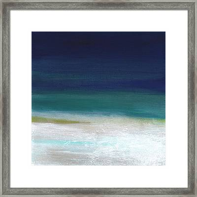 Surf And Sky- Abstract Beach Painting Framed Print