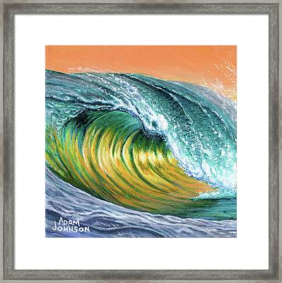 Surf Into The Sunset Framed Print