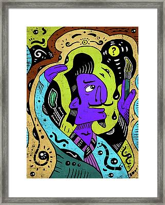 Framed Print featuring the digital art Surreal Painter by Sotuland Art