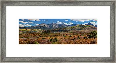 Framed Print featuring the photograph Sw Autumn Colorado Rocky Mountains Panoramic View Pt1 by James BO Insogna
