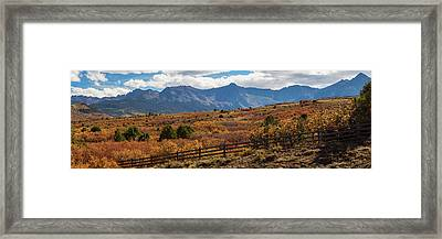 Framed Print featuring the photograph Sw Autumn Colorado Rocky Mountains Panoramic View Pt2 by James BO Insogna