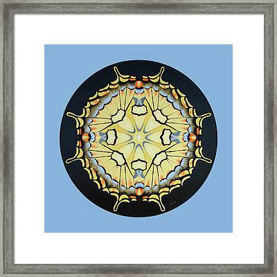 Swallowtail Mandala Framed Print