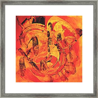 Framed Print featuring the painting Sweep by 'REA' Gallery