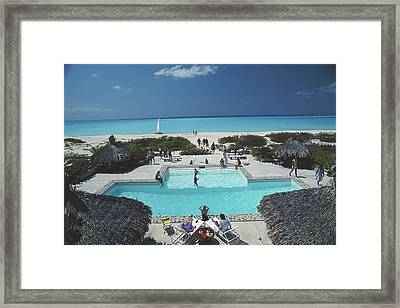 Swimming Pool On The Beach Framed Print