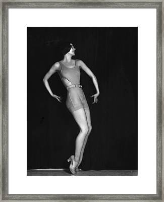 Swimsuit Pose Framed Print by Sasha