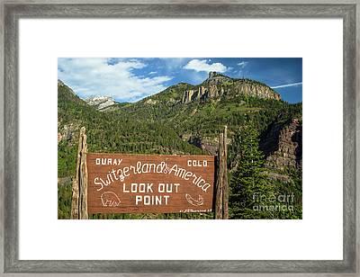 Switzerland Of America Framed Print