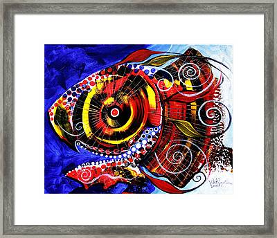 Swollen, Red Cavity Fish Framed Print