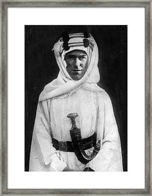 T E Lawrence Framed Print by Hulton Archive