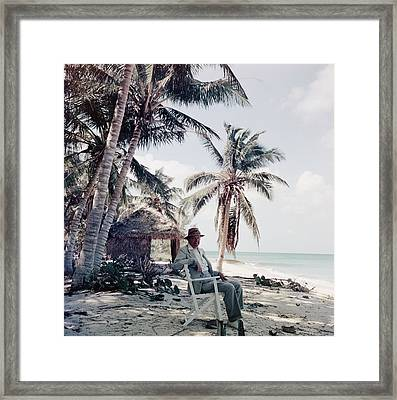 T. S. Eliot Framed Print by Slim Aarons