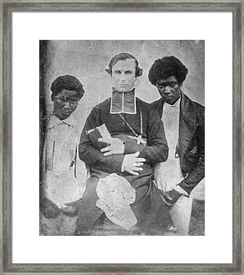Tahitian Converts Framed Print by Henry Guttmann Collection