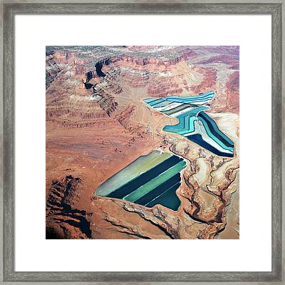 Tailings Ponds Framed Print by Fuse