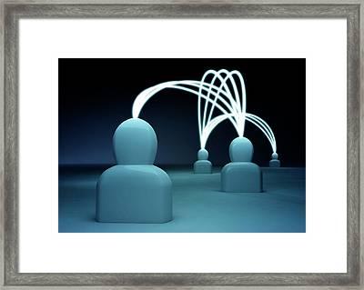 Talking Heads - Blue3 Framed Print by Mmdi