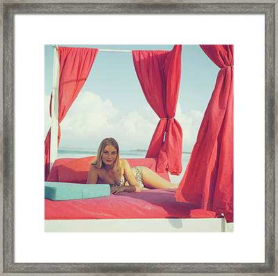Tania Mallet Framed Print by Slim Aarons