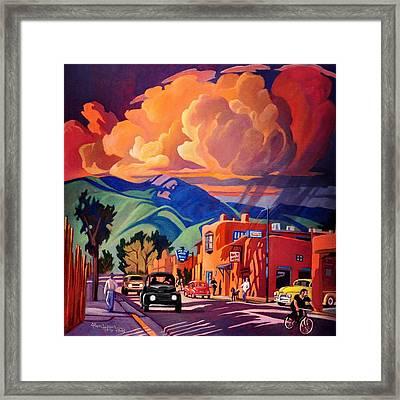 Taos Inn Monsoon Framed Print