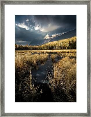 Framed Print featuring the photograph Tapering Rains / Whitefish, Montana  by Nicholas Parker