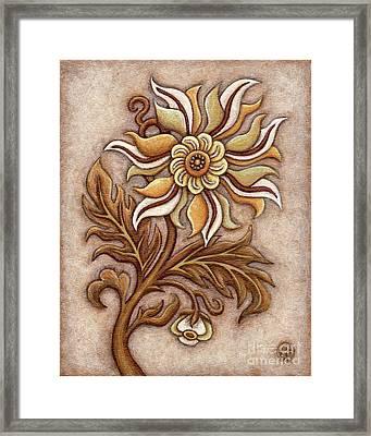 Tapestry Flower 1 Framed Print