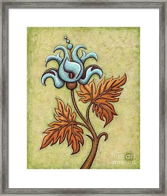 Tapestry Flower 2 Framed Print