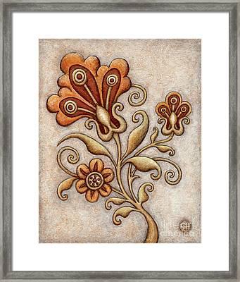Tapestry Flower 3 Framed Print