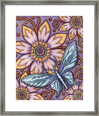 Tapestry Butterfly Framed Print