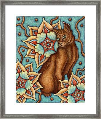 Tapestry Cat Framed Print