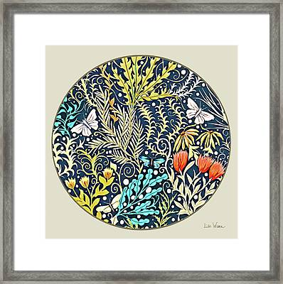 Tapestry Design Button Framed Print