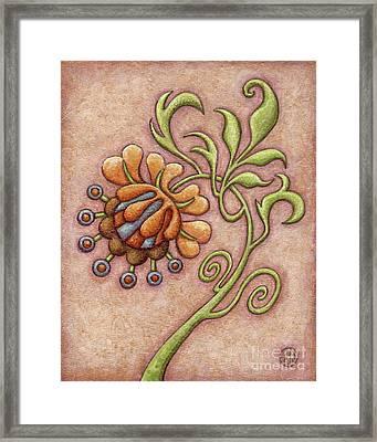 Tapestry Flower 10 Framed Print
