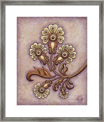 Tapestry Flower 4 Framed Print