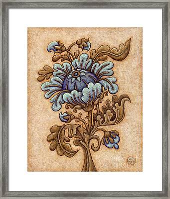 Tapestry Flower 5 Framed Print