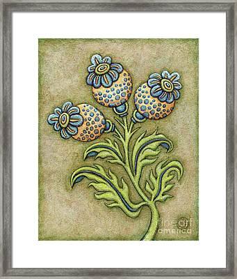 Tapestry Flower 6 Framed Print
