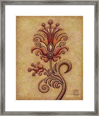 Tapestry Flower 7 Framed Print