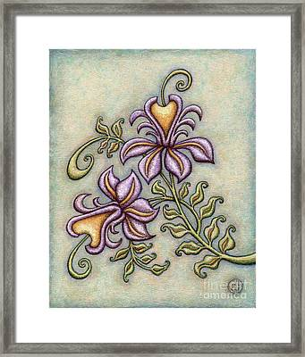 Tapestry Flower 8 Framed Print