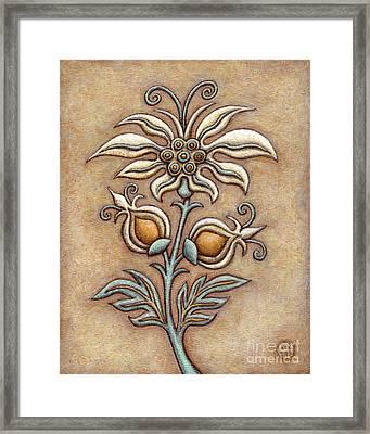Tapestry Flower 9 Framed Print