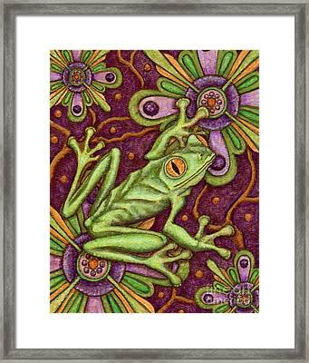Tapestry Frog Framed Print