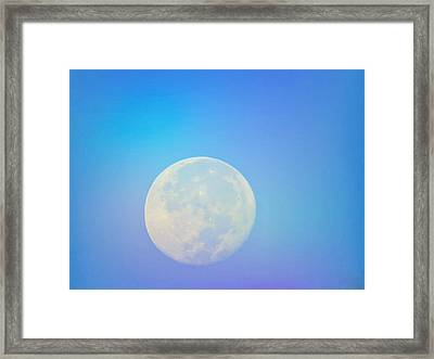 Taurus Almost Full Moon Blend Framed Print