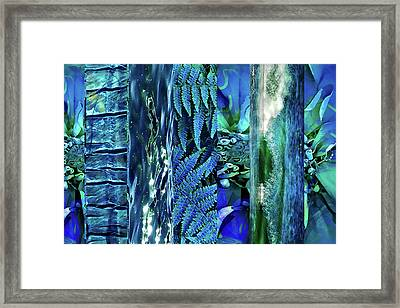 Teal Abstract Framed Print