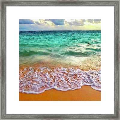 Teal Shore  Framed Print