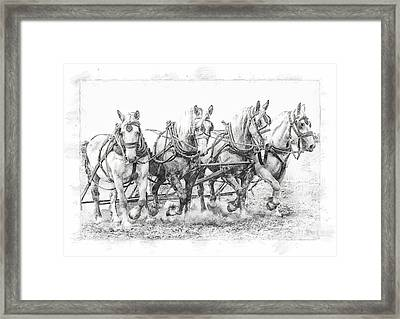 Team Work 2 Framed Print