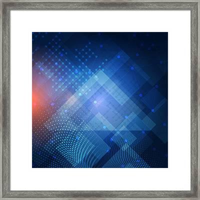 Techno 1 Framed Print