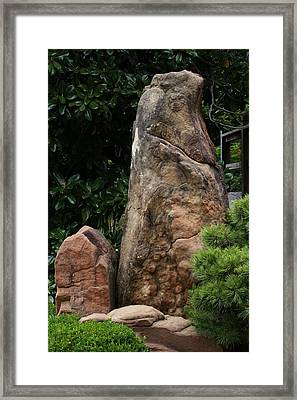 Framed Print featuring the photograph Teeny Weeny And Biggy Wiggy - Rock Formations by Debi Dalio