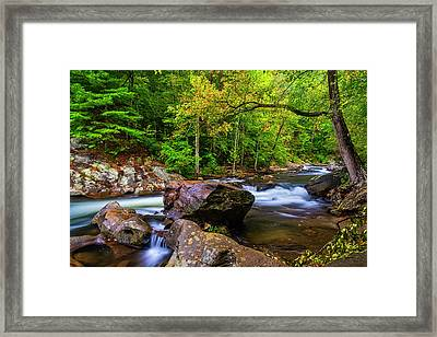 Framed Print featuring the photograph Tellico River Serenity by Andy Crawford