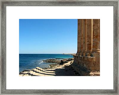 Temple Of Isis, Sabratha, Libya Framed Print by Joe & Clair Carnegie / Libyan Soup