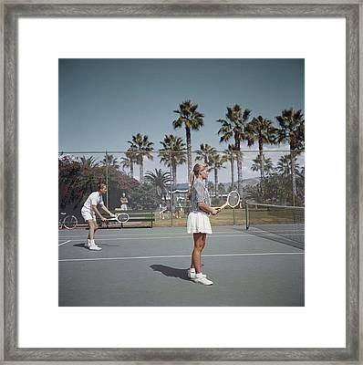 Tennis In San Diego Framed Print