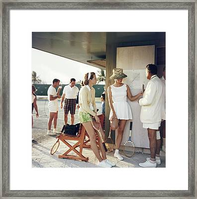 Tennis In The Bahamas Framed Print