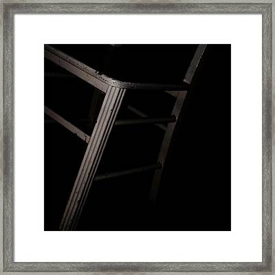 Tentative / The Chair Project Framed Print