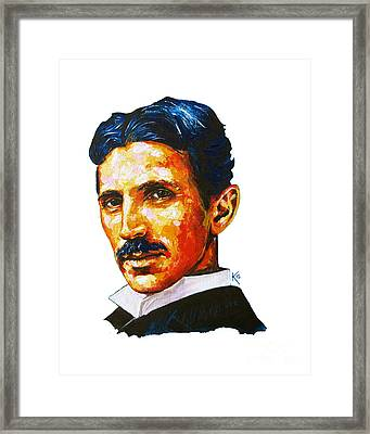 Tesla - Pure Genius Framed Print