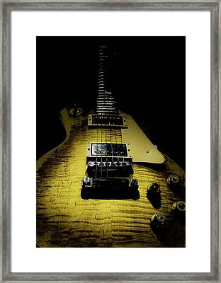 Framed Print featuring the digital art Honest Play Wear Tour Worn Relic Guitar by Guitar Wacky