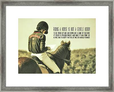 Test Ready Quote Framed Print by JAMART Photography