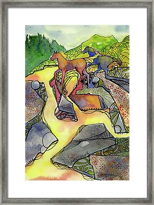 Tevis Ponies Framed Print