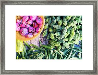 Thai Market Vegetables Framed Print