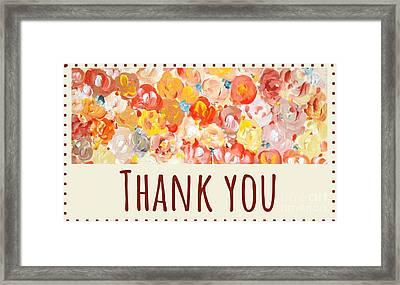 Thank You #2 Framed Print